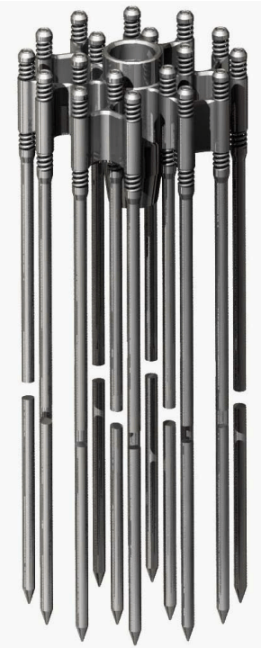 Control rods cluster assembly.