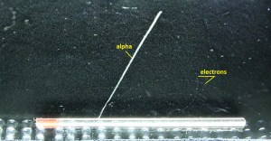 Alpha Particle - Cloud Chamber