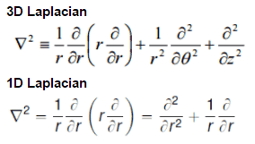 laplacian - cylindrical geometry