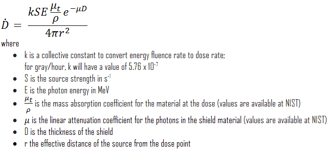 dose rate calculation